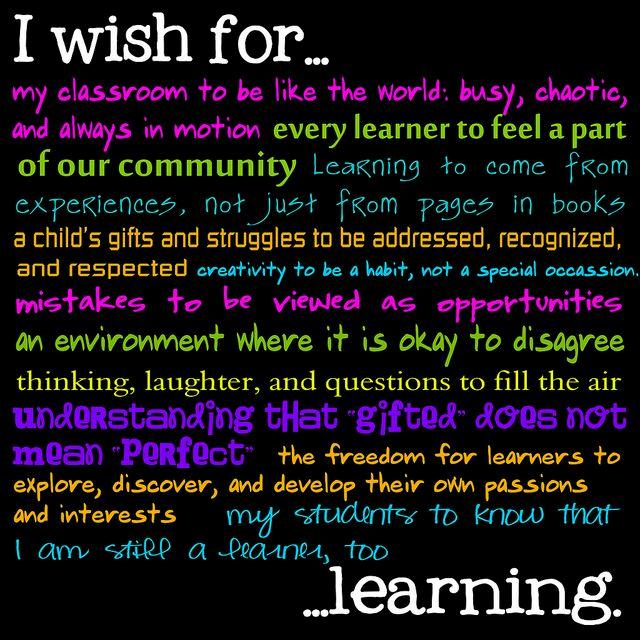 I Wish For Learning