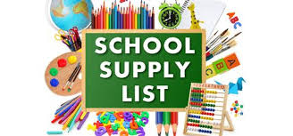 NES School Supply Lists 2020-21