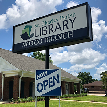 St. Charles Parish Library's NEW Norco Branch is now opened!