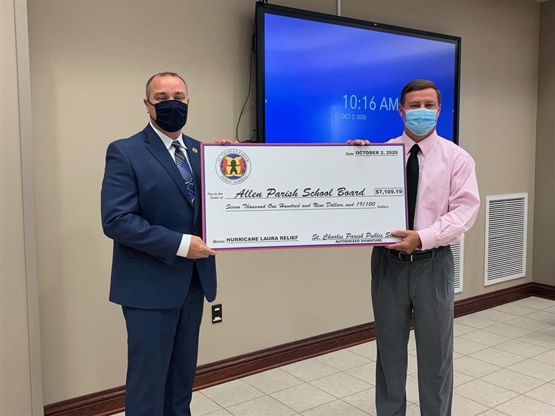 More Than $7,000 Raised for Allen Parish Schools