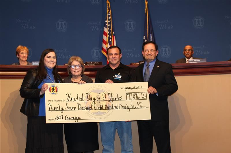 School System Raises Money for United Way of St. Charles