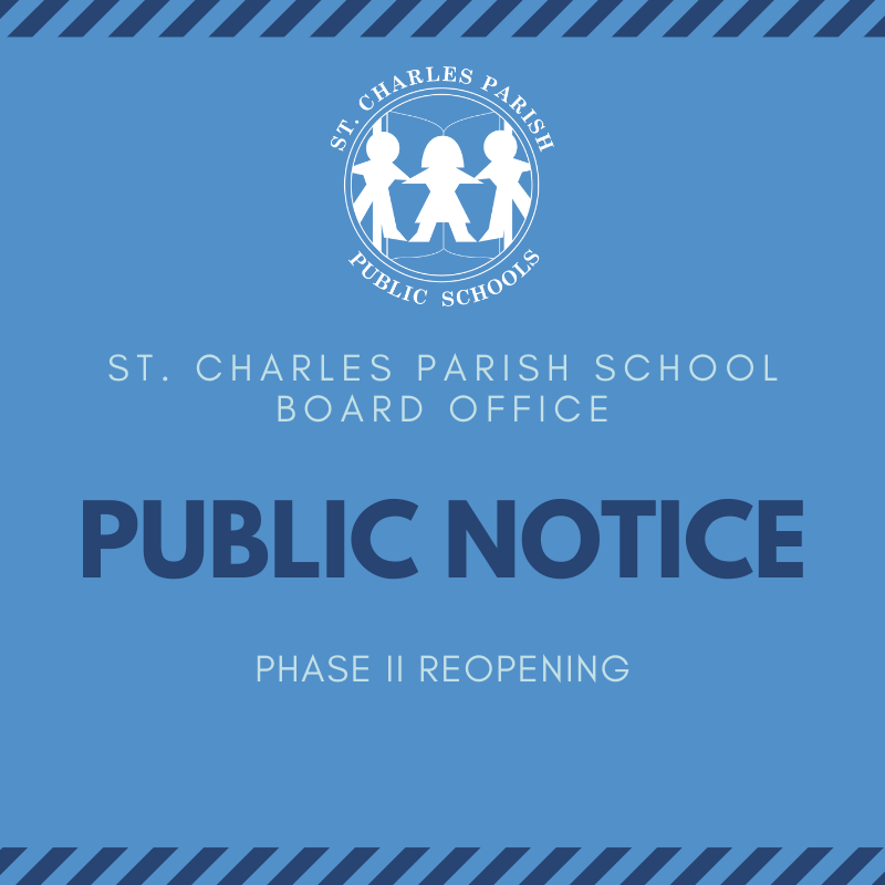 Phase II Reopening of School Board Office