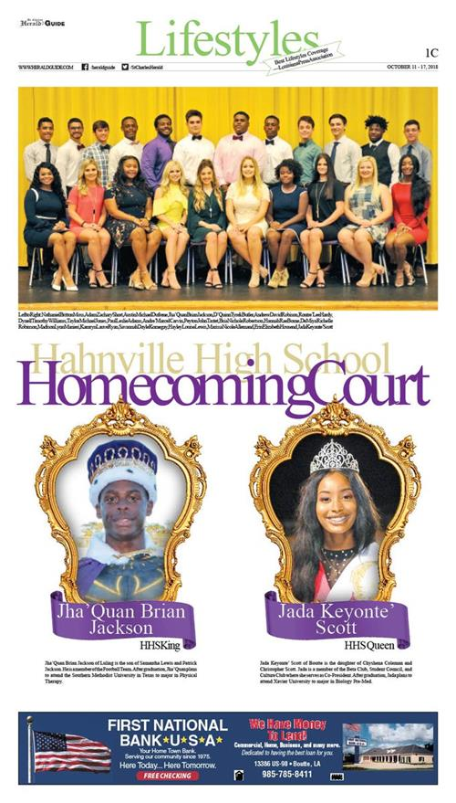 Hahnville Homecoming Court