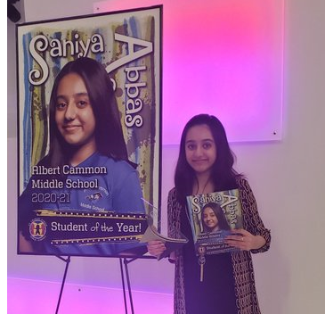 Congratulations to the SCPPS 2020-21 Student of the Year Saniya Abbas
